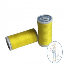 Fil à coudre polyester 200m jaune soleil - 504