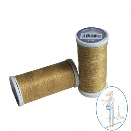 Fil à coudre polyester 200m moutarde - 844