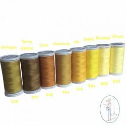 Fil à coudre polyester 200m jaune ocre - 848
