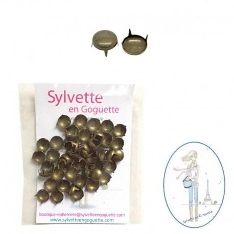 Clous à griffes rond bronze 8 mm
