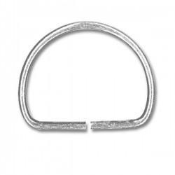 Anneau demi rond métal nickel - 30mm