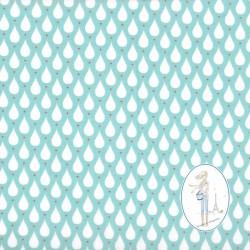 Toile cirée bleu d'eau TEARDROPS