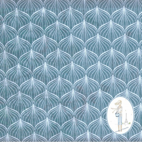 toile cir e bleu p trole design scandinave. Black Bedroom Furniture Sets. Home Design Ideas