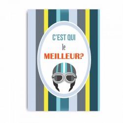 Carte postale C'est qui le meilleur?