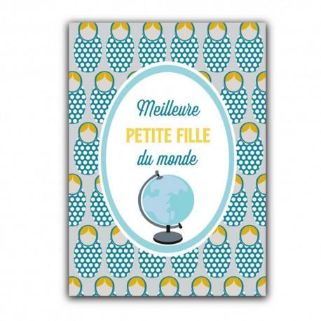 Carte postale Meilleure petite-fille du monde