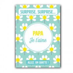 Carte à gratter Papa je t'aime