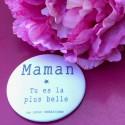 Magnet personnalisé Maman tu es la plus belle rose poudré