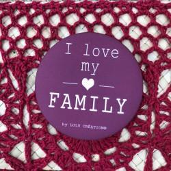 Magnet personnalisé I love my family prune