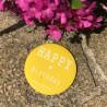 Magnet personnalisé Happy birthday jaune