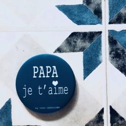 Magnet personnalisé Papa je t'aime bleu