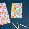 Carnet de notes A6 Géométrie multicolore