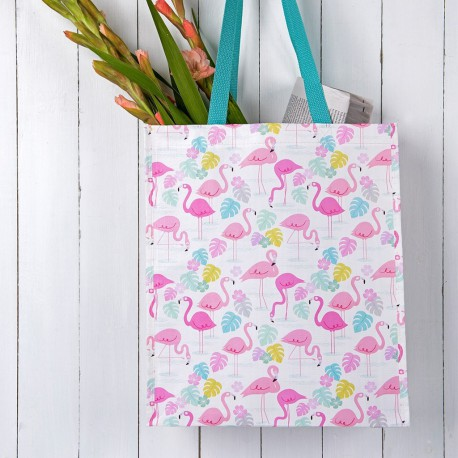Sac shopping Flamants roses