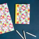 Carnet de notes A5 Géométrie multicolore