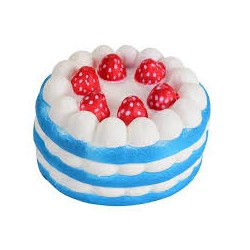 Squishy kawaii gâteau arc en ciel bleu - ANTI STRESS