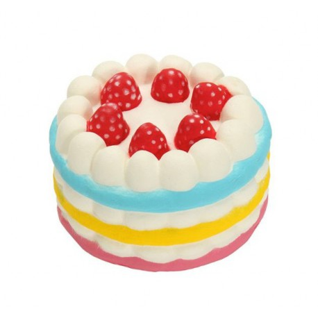 Squishy kawaii gâteau arc en ciel rose - ANTI STRESS