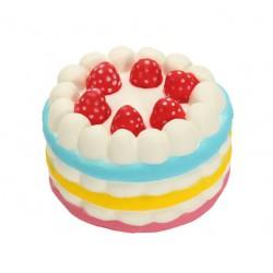Squishy kawaii gâteau arc en ciel rose - ANTI STRESS