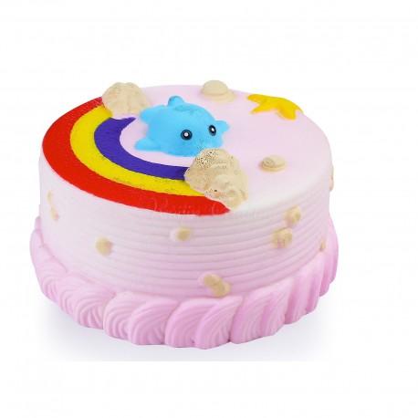 Squishy kawaii gâteau dauphin rose - ANTI STRESS