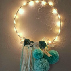 Guirlande lumineuse personnalisée turquoise