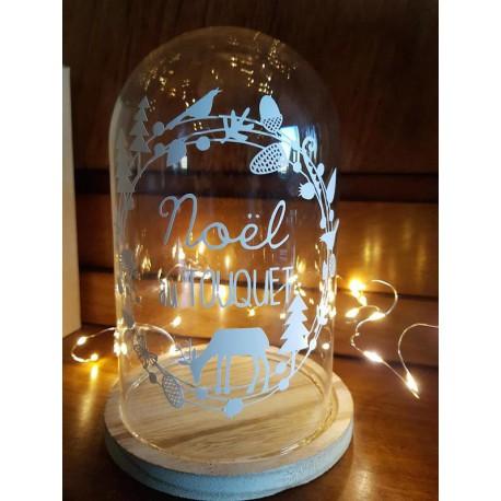 Cloche lumineuse de Noël personnalisée