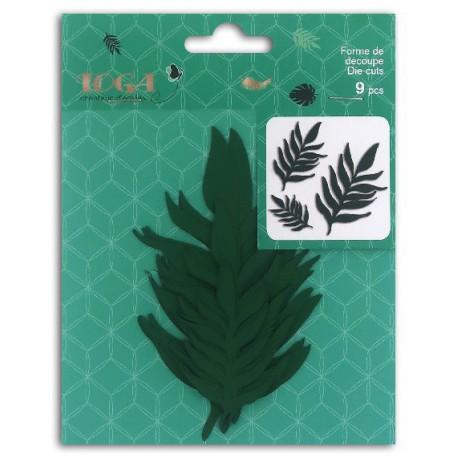 Formes feuillage vert Die-cuts