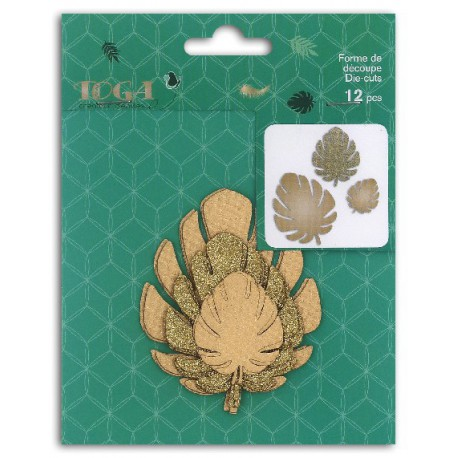 Formes feuillage philodendron or Die-cuts