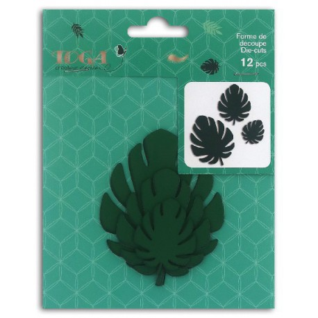 Formes feuillage philodendron vert Die-cuts