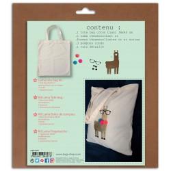 Kit custo lama or pour tote bag