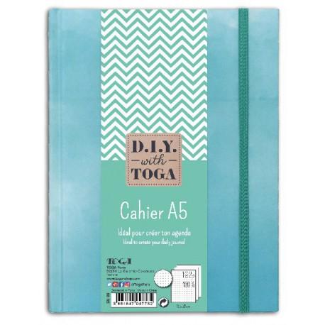Cahier bullet journal bleu