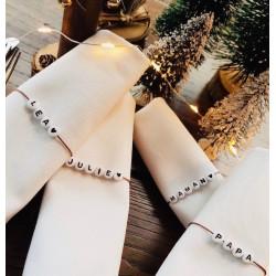 Marque place bracelet personnalisé