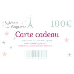 Carte cadeau 100€ à imprimer ou à envoyer par mail
