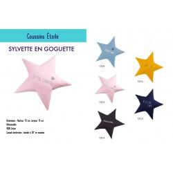 Coussin étoile personnalisé 5 couleurs