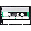 Sticker CB Cassette vintage verte