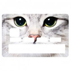 Sticker CB chat blanc