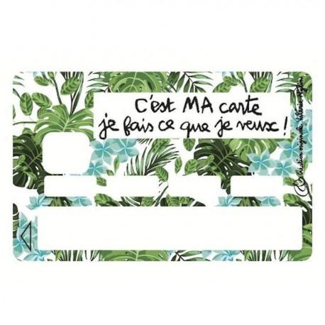 Sticker CB C'est ma carte je fais ce que je veux turquoise