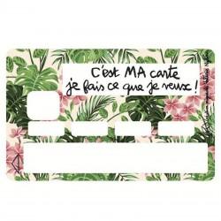 Sticker CB C'est ma carte je fais ce que je veux rose