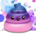 Squishy kawaii crotte de licorne violette - ANTI STRESS
