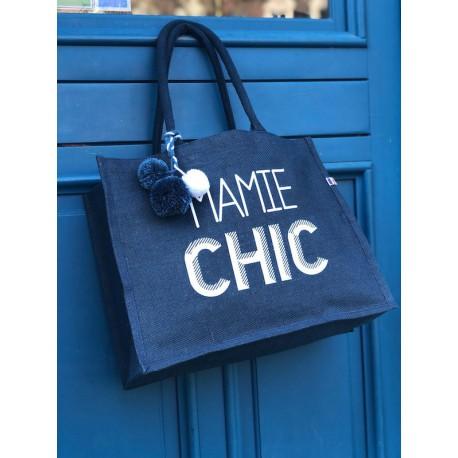 Cabas en jute personnalisé - Mamie CHIC