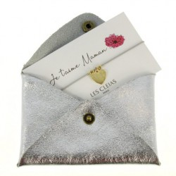 Cadeau fête des mères Porte-carte + Bracelet charm je t'aime maman