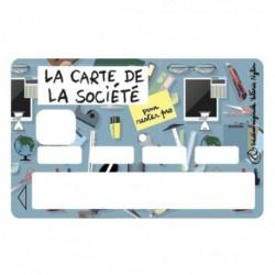 Sticker CB La carte de la société