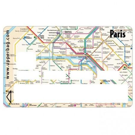Sticker CB Plan du métro Paris