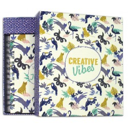 Kit papeterie carnet Creative vibes