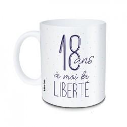 Mug 18 ans à moi la liberté