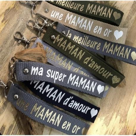 Porte clés personnalisé - Maman