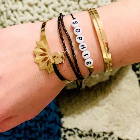 Bracelet prénom coeur