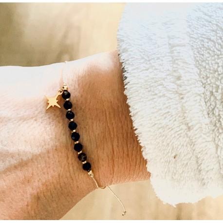 Bracelet porte-bonheur pierres protectrices