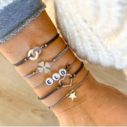 Bracelet charm argent Sylvette