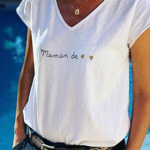 // MAMAN DE 2 💛💛// comment te dire je t'aime ❣️ . En te l'écrivant tout simplement... brodé sur un joli tee shirt. . Chez @sylvette_en_goguette À retrouver sur le site (lien dans la bio) et en boutique . . . . .#maman2020 #fetedesmeres #cadeaufetedesmeres #cadeaumaman #conceptstoreparis #clamart #sylvette_en_goguette
