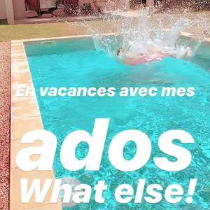 //LES VACANCES C'EST BON COMME UN PLONGEON// . . . #vacancesenfamille #monados #piscine🏊 #suddelafrance #enfamille #justelekif #