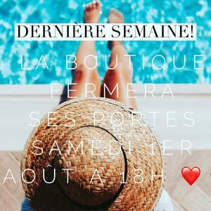 // ON SE FAIT LA QUILLE ! // . C'est le dernière semaine avant de retrouver nos loulous et not' petite famille sur le sable chaud de FRANCE 🇫🇷 Not' bo pays 💕. . On se croisera peut être sur les plages de #france et de Navarre puisque tout le monde y l'est là !!!! . . RÉOUVERTURE MARDI 25 AOÛT cette année .... plus tôt que d'habitude.... .C'est pour vous que l'on revient.Car on vous adore . .On revient cette année avec des MÉGAS SURPRISES... . Vous nous aimiez 💕 Vous allez nous adorer 💖 . .En attendant venez profiter des dernières soldes avant que les portes ne se ferment samedi à 18H 🕕 . . . . #bientotlesvacances #été #summertime #vacancesenfamille #sylvetteengoguette #clamart #banlieueparisienne #grandparis #byebye