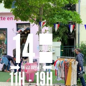 // 14 JUILLET // ⠀ .⠀ On vous attend 💙 🤍 ❤️ ⠀ 11H - 19H⠀ .⠀ SYLVETTE EN GOGUETTE⠀ 4 Rue du Centre⠀ 92140 CLAMART⠀ .⠀ .⠀ .⠀ .⠀ #14juillet #bleublancrouge🇫🇷 #france #onestouvert #soldes #conceptstoreparis #sylvetteengoguette ⠀